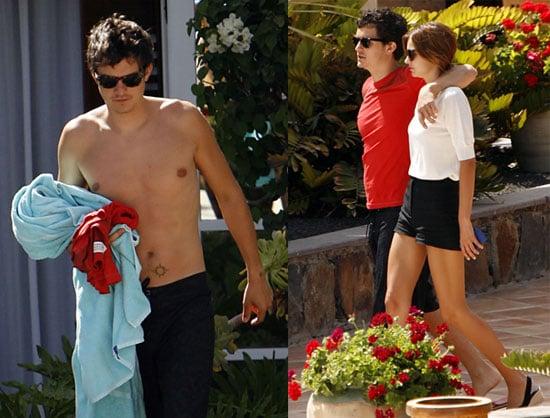 Photos of Orlando Bloom Shirtless On Vacation With Model Girlfriend Miranda Kerr