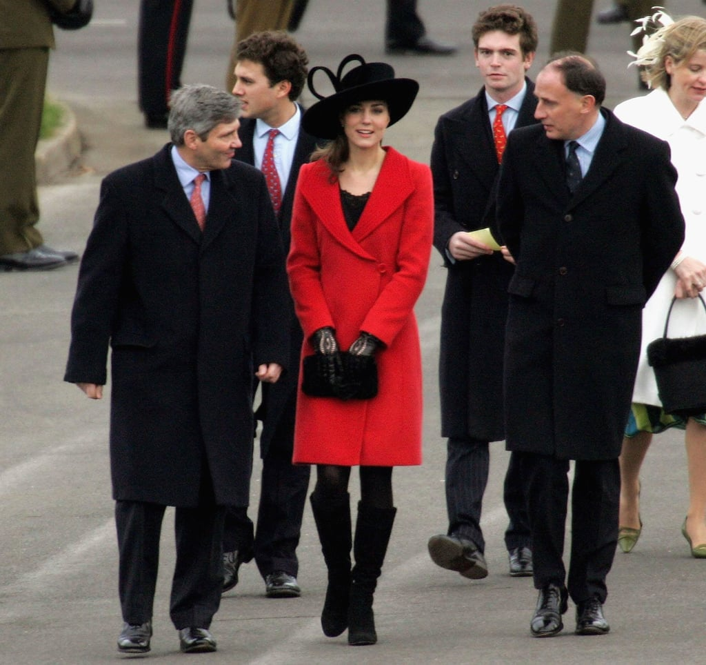 Kate Middleton walked beside her father Michael in December 2006 before Prince William's Passing Out Parade from the Sandhurst Military Academy.