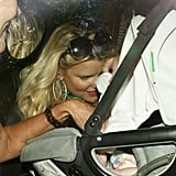 Jessica Simpson checked on daughter Maxwell Johnson.