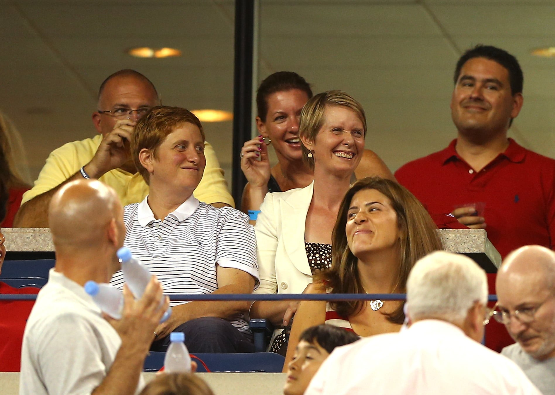 Cynthia Nixon took in one of the US Open matches with her wife Christine Marinoni.