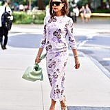 Victoria Beckham's Purple Wedding Dress