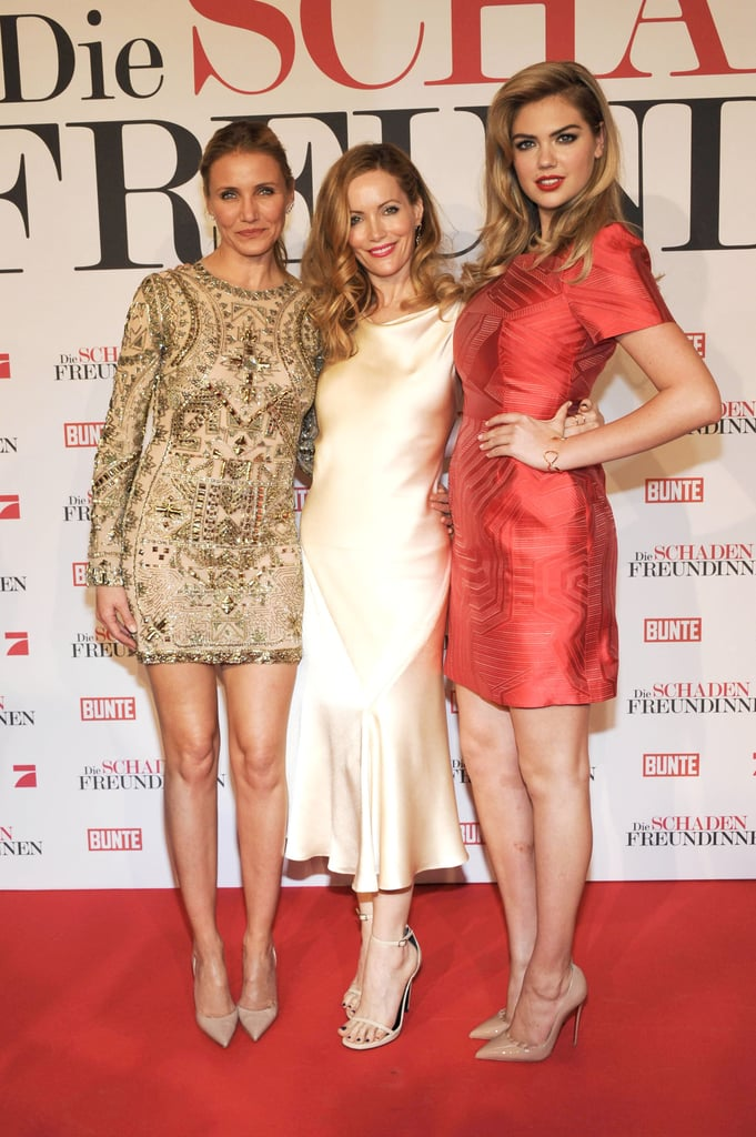 Leslie Mann, Cameron Diaz and Kate Upton posed for a photo during a premiere for The Other Woman in Munich on Monday.