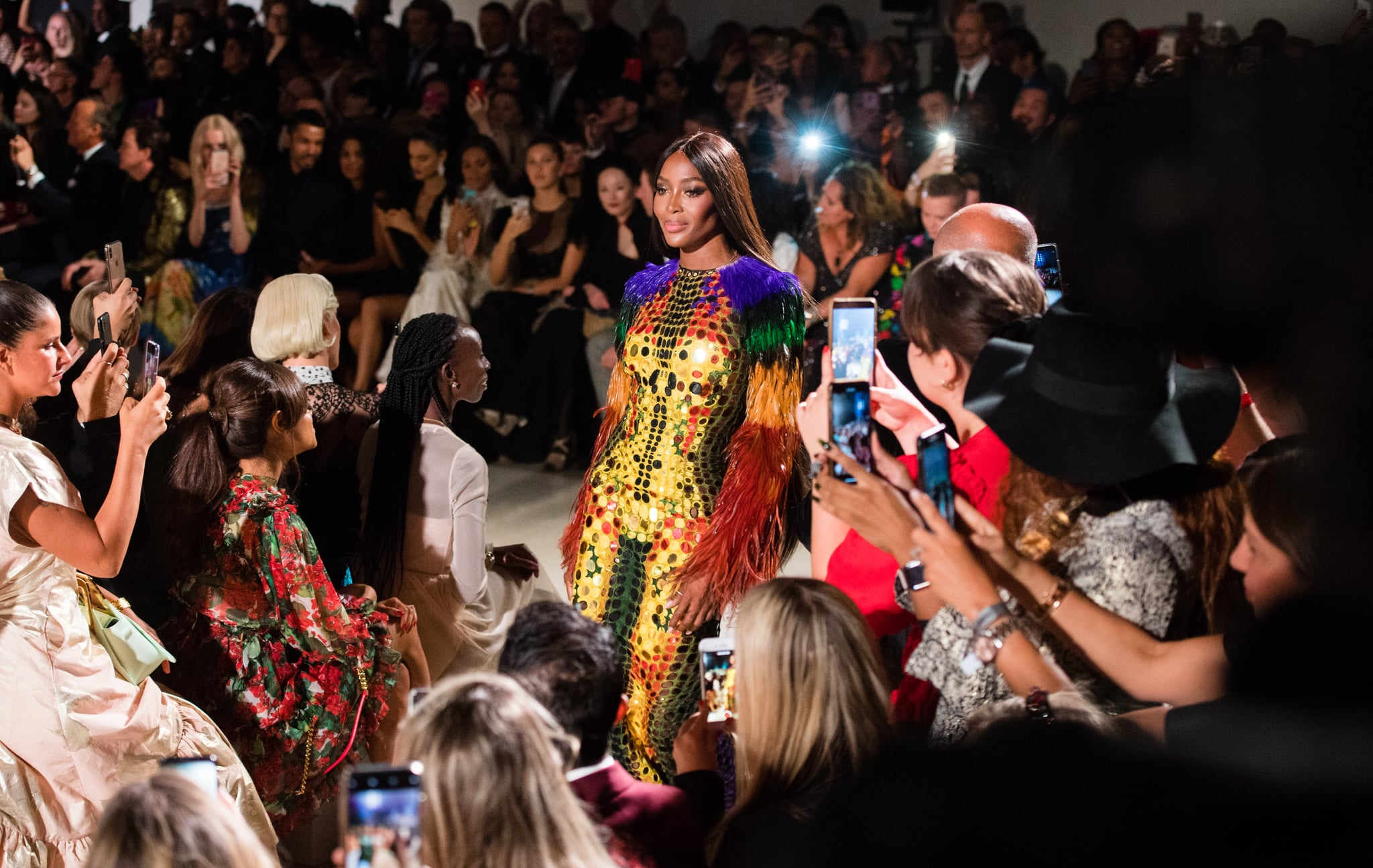 LONDON, ENGLAND - SEPTEMBER 14: Naomi Campbell walks the runway at the Fashion for Relief show during London Fashion Week September 2019 on September 14, 2019 in London, England. (Photo by Samir Hussein/WireImage)
