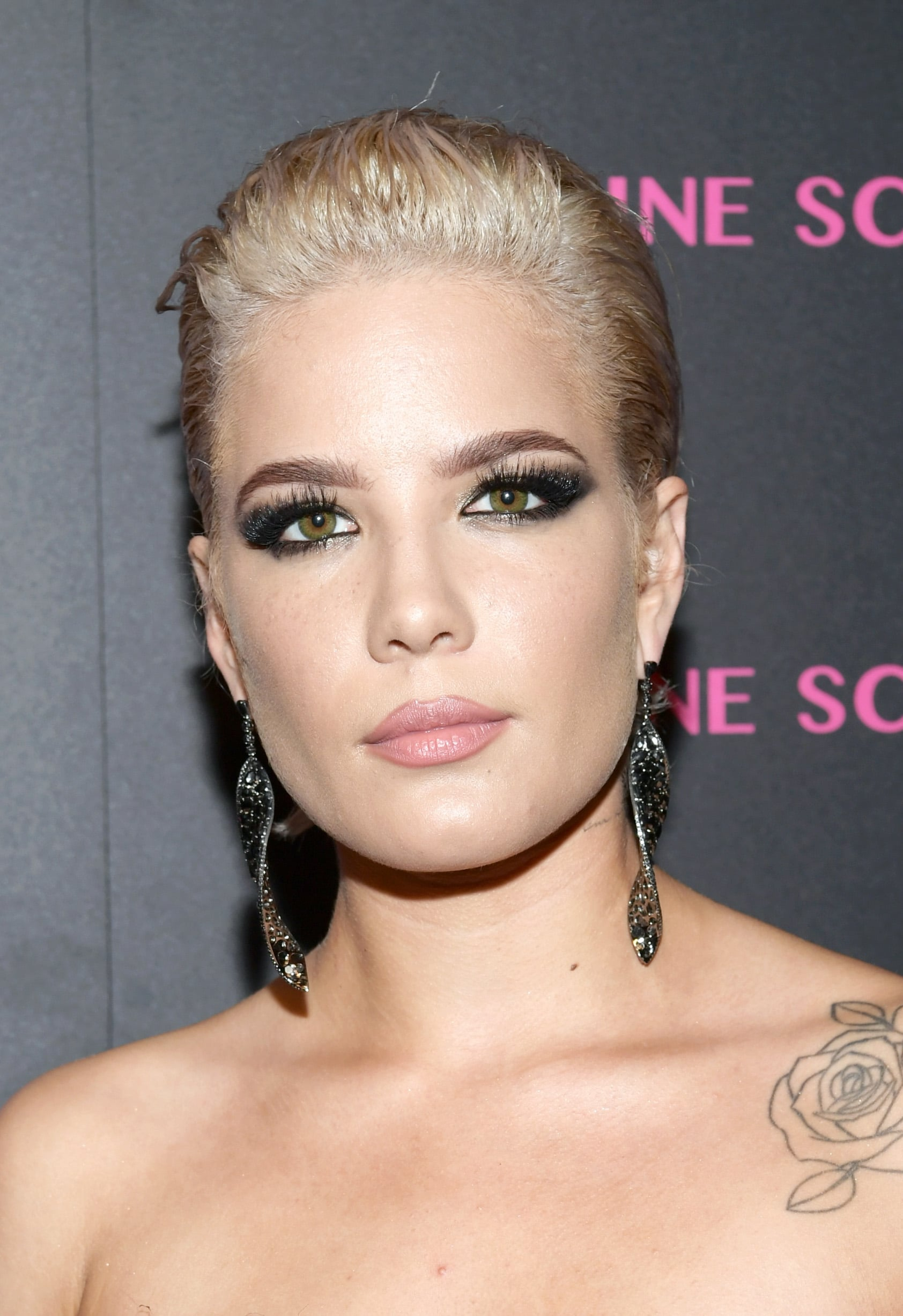 WEST HOLLYWOOD, CA - MARCH 13:  Halsey attends Lorraine Schwartz launches The Eye Bangle a new addition to her signature Against Evil Eye Collection at Delilah on March 13, 2018 in West Hollywood, California.  (Photo by Emma McIntyre/Getty Images for Lorraine Schwartz )