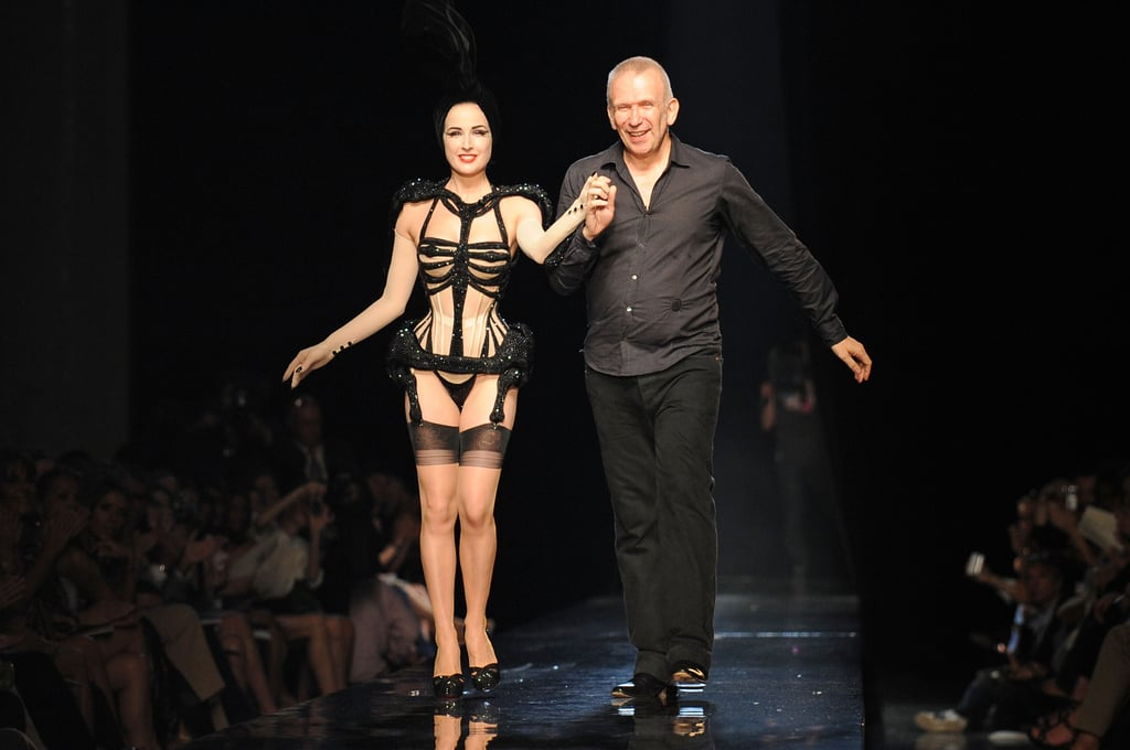 Photos of Dita Von Teese on Jean Paul Gaultier Couture Show Catwalk