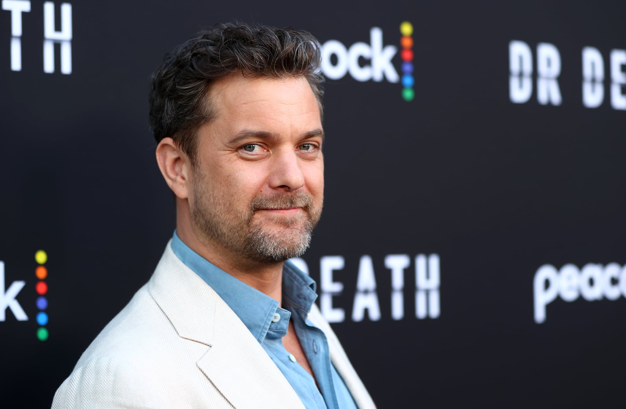Joshua Jackson, who plays Dr. Death in the new Peacock series.