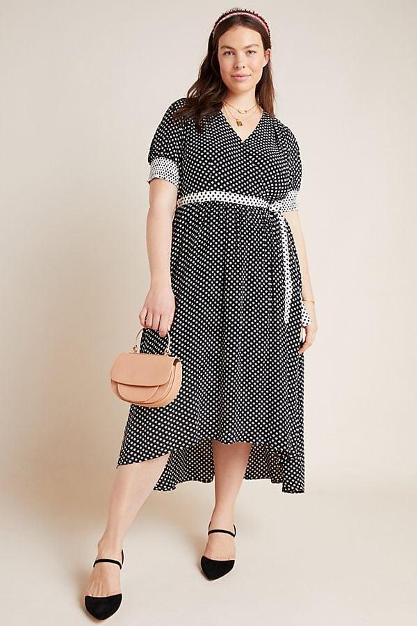 Maeve Breanna Polka Dot Midi Dress