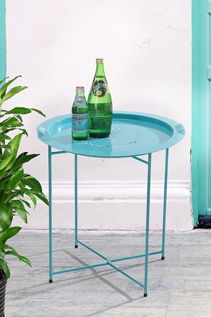 Sunjoy Steel Side Table With Removable Tray