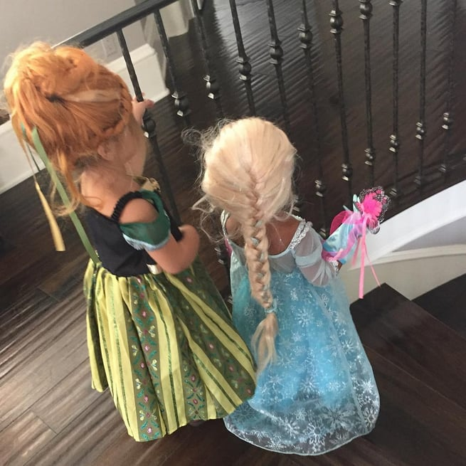 North as Elsa and Penelope as Anna