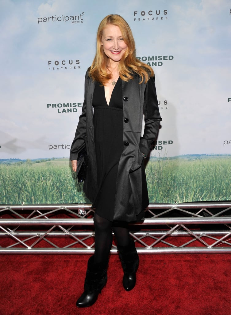 Patricia Clarkson stepped out in NYC for the the Promised Land  premiere.
