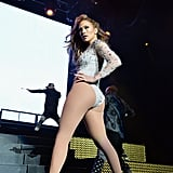 Jennifer Lopez looked incredible while performing in East Rutherford, NJ, on Sunday.
