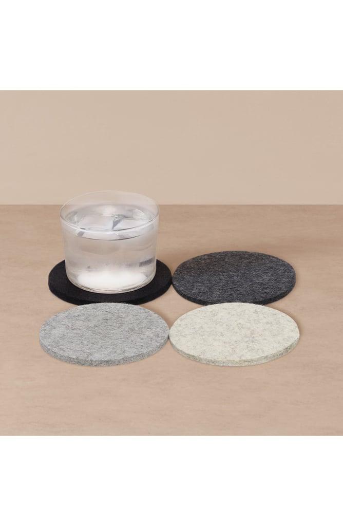 Goodee x Graf Lantz 4-Pack Round Merino Wool Coasters
