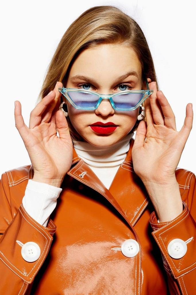 Topshop Cindy Crystal Slim Sunglasses