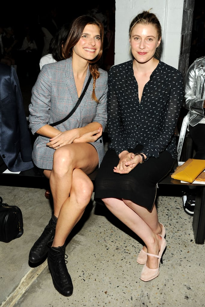 Lake Bell and Greta Gerwig sat front row together for Sunday's Band of Outsiders show.