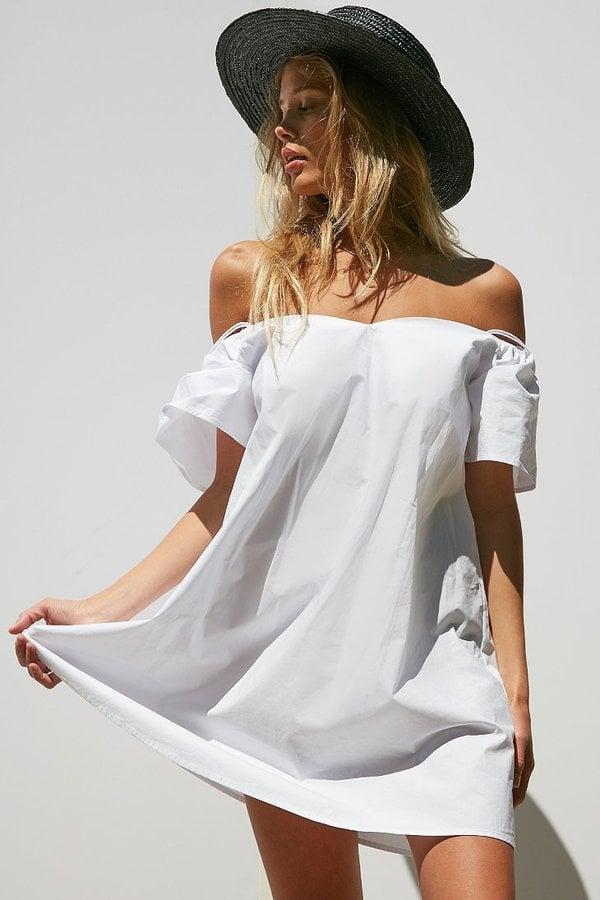 Cooperative Poplin Strappy Cold-Shoulder Dress