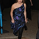 Princess Eugenie Wearing a Dress Over Pants