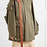 Loewe Oversized Leather Trimmed Cotton Jacket