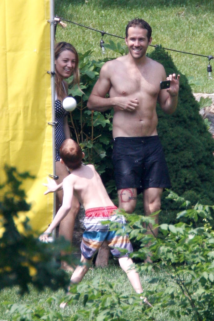 ryan reynolds was shirtless with blake lively in new york
