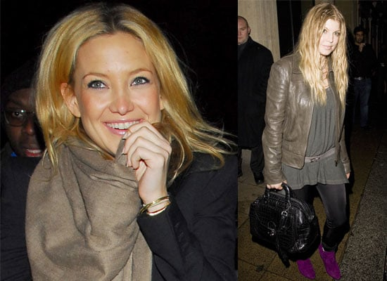 """Photos Of Kate Hudson And Stacy Ferguson aka Fergie Out In London After Finishing Filming """"Nine"""""""