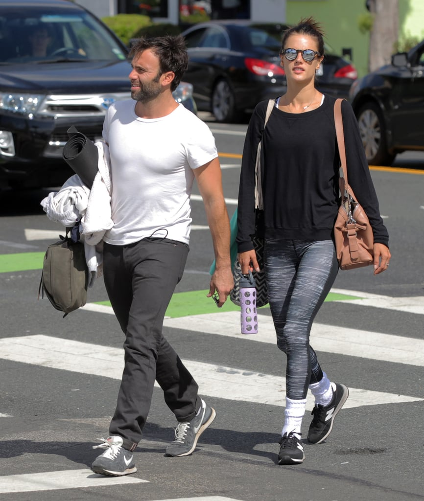 Alessandra Ambrosio and Fiance Go to Yoga October 2015