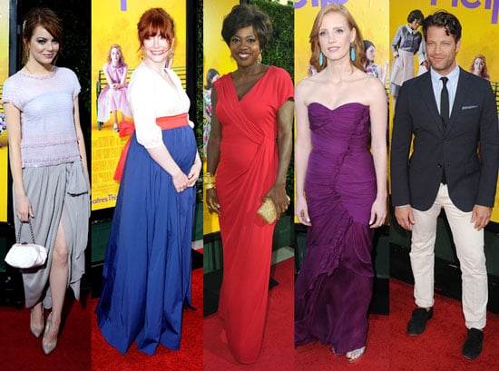 The Help Premiere Pictures With Stone, Davis, O'Reilley, Allison Janney
