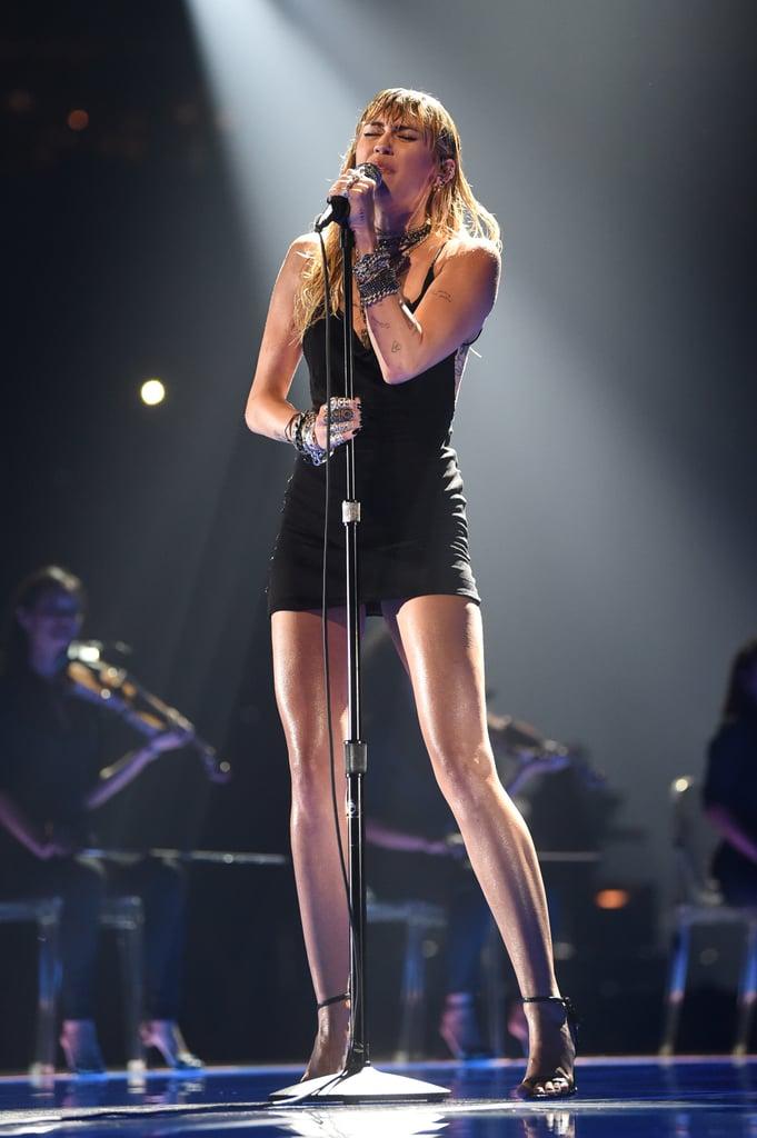 """Miley Cyrus Performs """"Slide Away"""" at the MTV VMAs"""