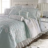 Aqua Comforter with Floral Applique ($190)