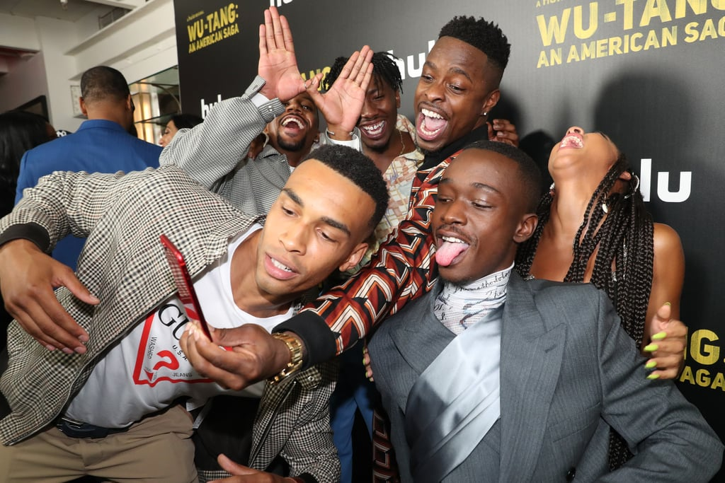Pictures of the Wu-Tang: An American Saga Cast Hanging Out