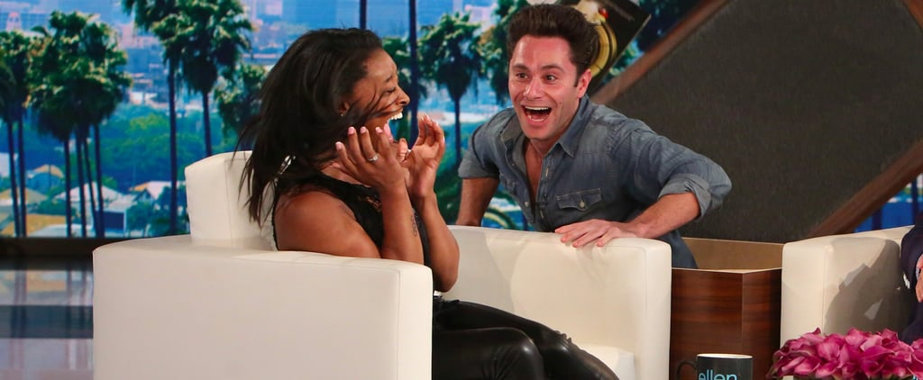Simone Biles Gets a Scare From Her DWTS Partner, Sasha Farber