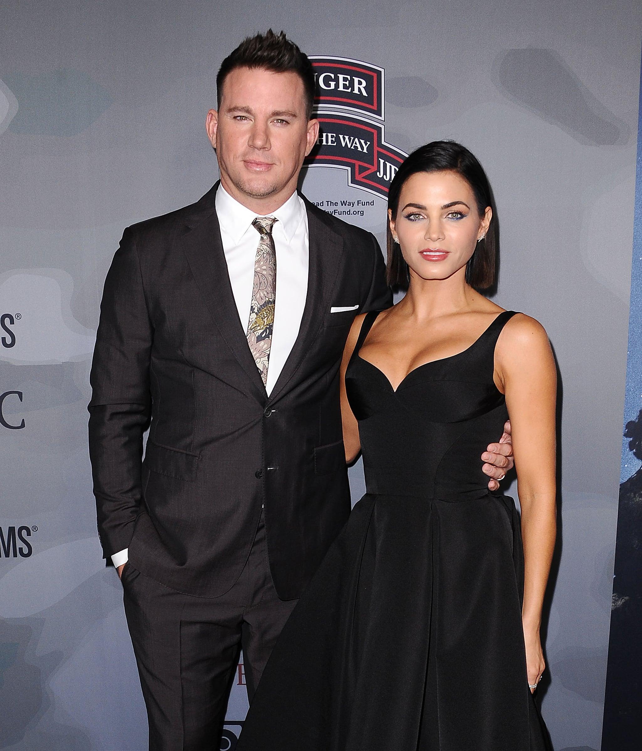 LOS ANGELES, CA - NOVEMBER 06:  Channing Tatum and Jenna Dewan Tatum attend the premiere of