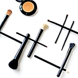 Apply foundation with a brush.