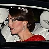 Diamond Earrings and Lotus Flower Tiara
