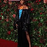 Lashana Lynch at the 65th Evening Standard Theatre Awards