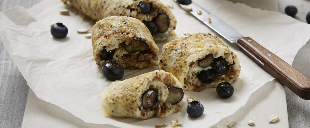 Egg Roll-Up With Blueberries, Quinoa and Maple Syrup Recipe