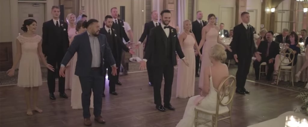 Groomsmen's Disney Dance Performance at a Wedding