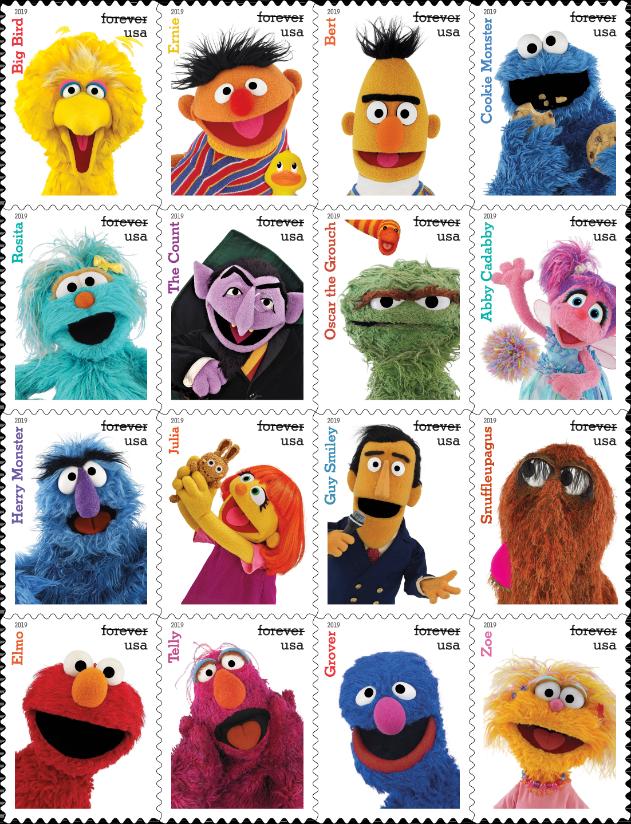 Sesame Street 50th Anniversary Stamps