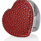 Mood Red Heart Crystal Compact Mirror