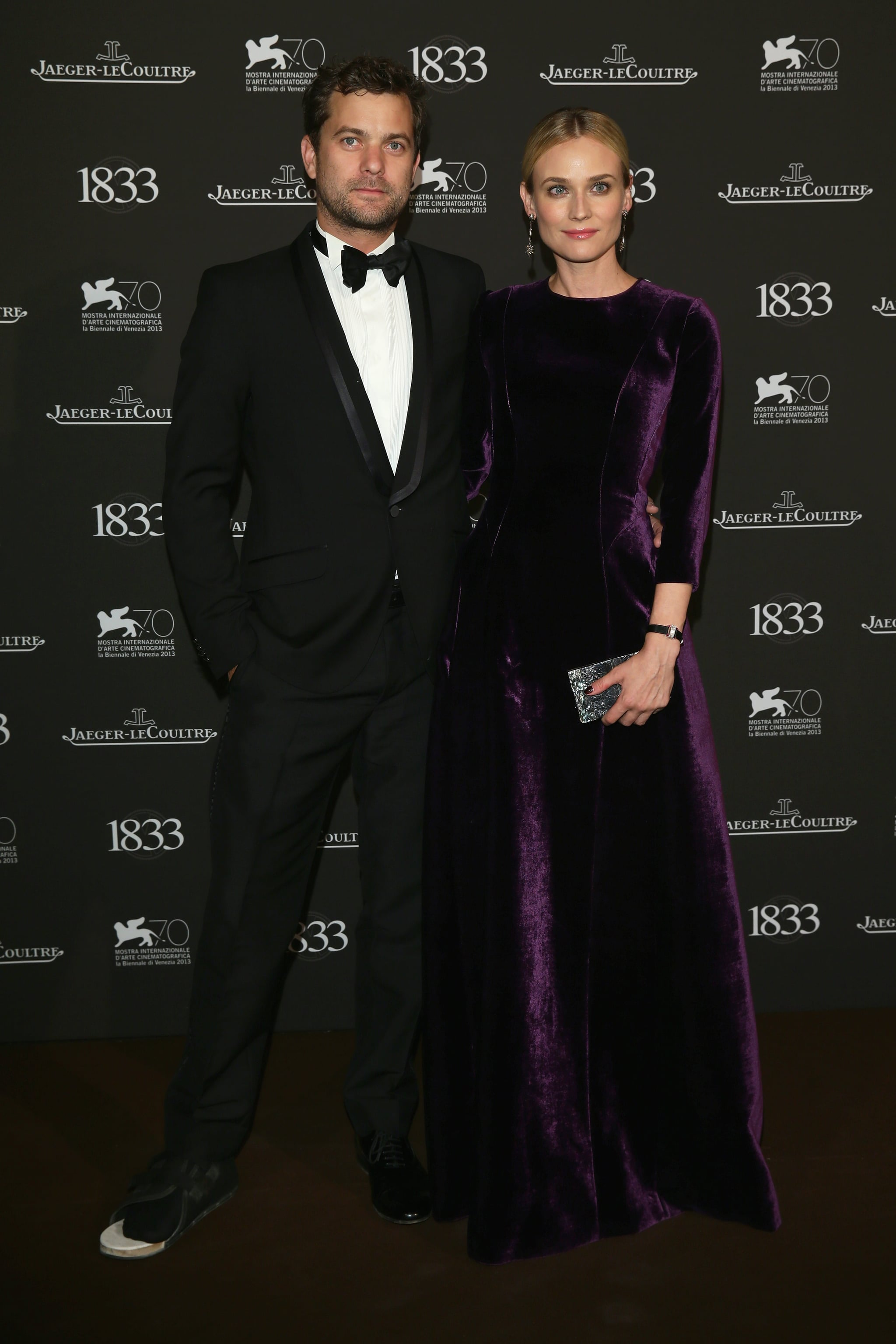 Joshua Jackson and Diane Kruger attended a gala dinner at the Venice Film Festival.