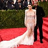 Kim Kardashian and Kanye West at the Met Gala in 2015