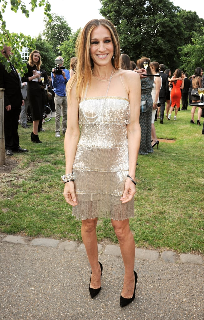 Sarah Jessica Parker shined in a sparkly gold dress.