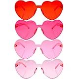 Heart-Shaped Rimless Sunglasses