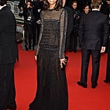 Liya Kebede hit the red carpet for Jimmy P.:Psychotherapy Of A Plains Indian in a beaded Roberto Cavalli gown — and a megawatt smile.