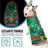 Dog Sweater With Blinking LED Lights