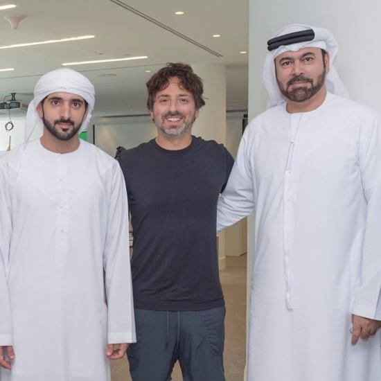 Sheikh Hamdan Meets Google Founder Sergey Brin in Dubai