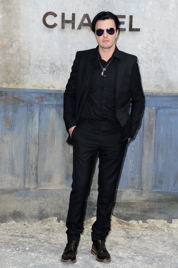 Michael Pitt made an appearance at the Chanel show on July 2.