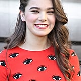 Hailee Steinfeld looked darling at a special preview for Ender's Game with tousled waves, bold brows, and a pop of pink on her lips.