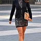 Black Lace Over Blush