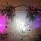 You + Me Neon Wedding Sign