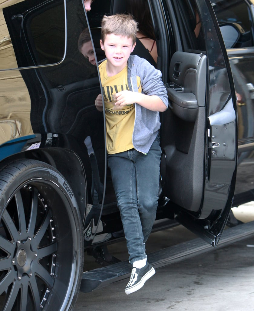 Cruz Beckham hopped out of his family's car.