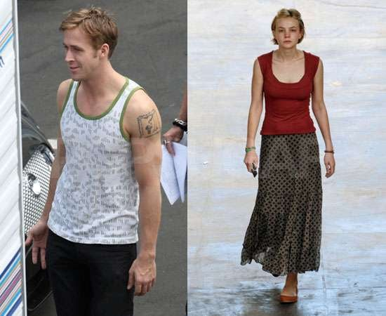 Pictures of Carey Mulligan and Ryan Gosling Filming Drive in LA